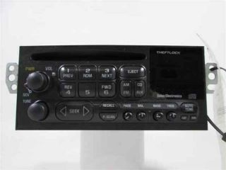 98 01 Chevrolet S10 Blazer Single Disc CD Player Radio