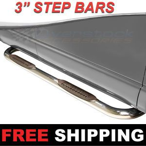"09 2014 Dodge RAM 1500 Quad Cab 3"" inch s s Nerf Bars Side Steps Running Boards"