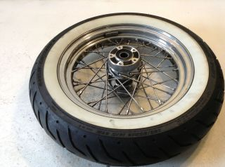 Harley Davidson Softail Dyna Fat Boy Bob Front Wheel Rim Tire Hub
