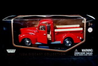 1940 Ford Pickup Motormax Diecast 1 24 Scale Red