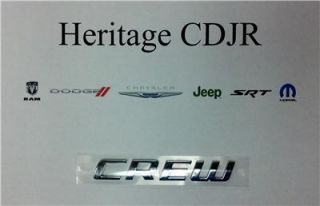 "2011 2013 Dodge Journey Grand Caravan Durango ""Crew"" Emblem by Mopar"