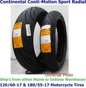 120 60 17 Front 180 55 17 Rear Continental Conti Motion Motorcycle Tires
