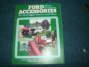 1980 Ford Bronco F Series Econoline Accessories Dealership Sales Brochure
