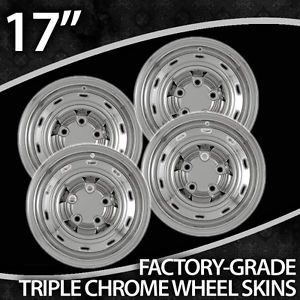 "2004 2011 Dodge RAM 1500 17"" Chrome Wheel Skins"