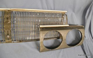 Good Used Mopar 1967 Dodge Coronet Front Grille and Headlamp Bezels Set