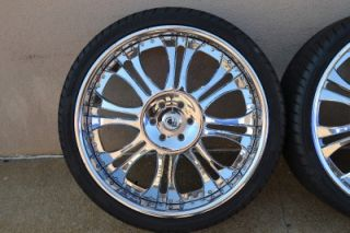 "26"" asanti AF132 Chrome Multipiece Wheels Rims GM Chevy GMC Cadillac w Tires"