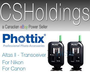 Phottix Atlas II Transceiver Remote Trigger Strobe Studio Light Head Off Camera