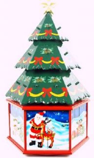 Huge Wooden 3D Christmas Tree Christmas Countdown Advent Calendar 20 Inches