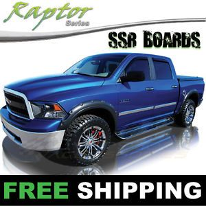 "2009 2014 Dodge RAM 1500 Quad Cab Raptor 7"" Stainless Steel Running Boards Step"
