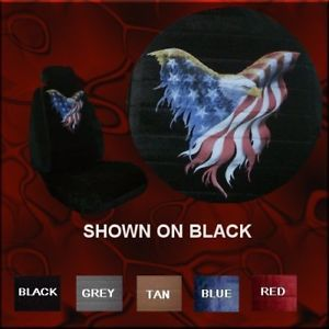 New Eagle American Flag Car Truck SUV Seat Covers PP