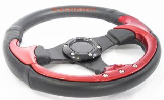 Racing Steering Wheel 320mm Red TC Eclipse Lancer XB