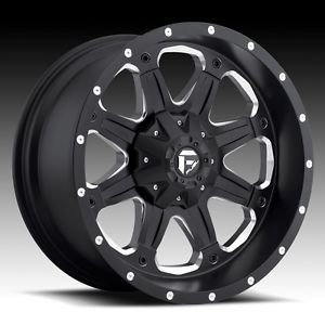 20 inch Fuel Off Road Boost Black Wheel Rim 5x5 5 5x139 7 12 Dodge RAM 1500