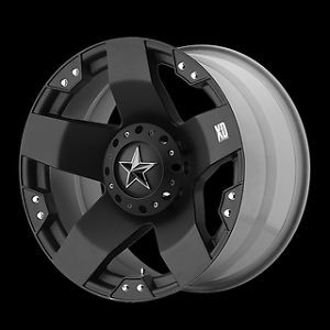 "18"" Rims XD Rockstar Matte Black w 35x12 50x18 Nitto Mud Grappler Tires Wheels"