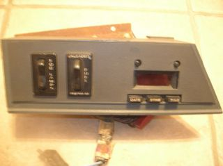 1984 1986 Ford Mustang SVO Fuel Fog Light Clock Switch Panel