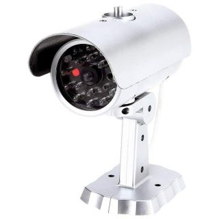 Dummy Security Camera Motion Activated Flashing Red Light LED Bulbs Surveillance