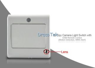 HD Spy Camera Light Switch GSM Remote Control MMS Alert