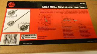 Mac Tools Axle Seal Installer for Ford AS785