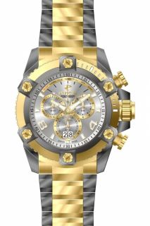 New Invicta 13015 Men's Reserve Grand Arsenal XL Full Size Gold Gun Metal Watch