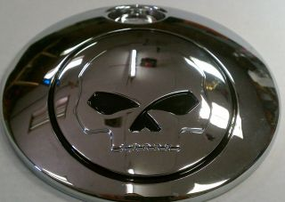 Willy G Chrome Skull Gas Lid Harley Davidson Touring 2008 Later