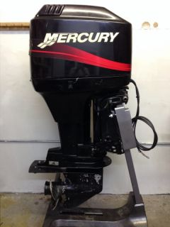 2000 Mercury 75 HP 2 Stroke Outboard Motor Boat Engine 40 60 Water Ready Rebuilt