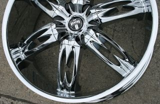 "Dub Nasty S157 24"" Chrome Rims Wheels Chevrolet Tahoe 07 Up 24 x 9 5 6H 30"