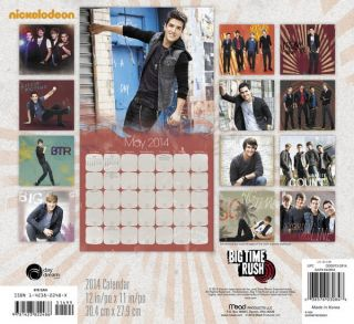Big Time Rush Calendar 2014