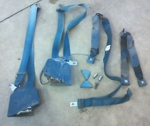 1973 1980 Chevy GMC Truck Blue Seat Belts K5 Blazer Jimmy Suburban