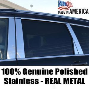 Chevy Equinox 10 13 Polished Stainless Pillar Post Door Body Trim Kit 6 Pieces