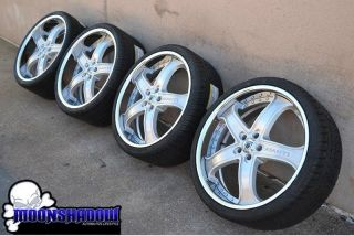 "22"" ASANTI AF 165 MULTIPIECE BRUSHED STAGGERED WHEELS RIMS MERCEDES TIRES"
