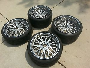 "20"" Modular Society Wheels Staggered Mercedes Rims Bentley Rims Tires asanti HRE"