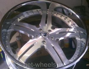 "22"" asanti Forged Wheels Staggered Chrome Charger Magnunm 300C Chalenger Dodge"