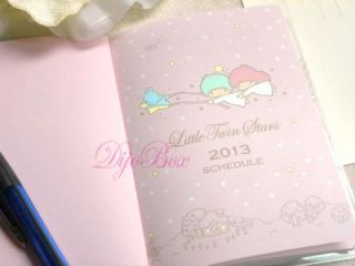 2013 Sanrio Little Twin Stars Monthly Schedule Organizer Planner Diary Journal