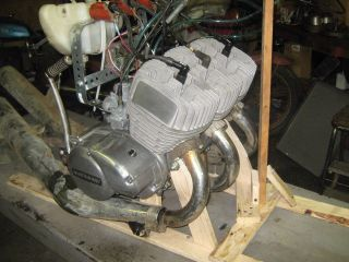 Kawasaki H2 750 Triple Engine Motor Running 1974 CDI Ignition and Coils H1