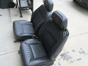Black Leather Bucket Seats from A Chevy Monte Carlo