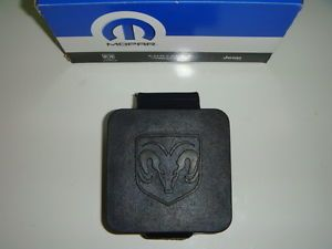 "Dodge RAM Durango Dakota Towing Receiver Hitch Plug Rubber Cover 2"" Logo New"