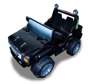 New 12V Battery Powered Kids Double Seat Ride on Toy Truck ATV Car 4 Wheel Black