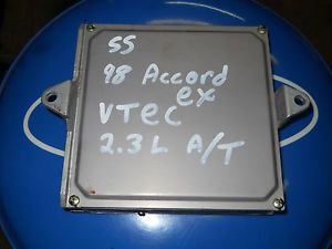 98 99 Honda Accord EX LX Sedan Coupe ECU ECM Engine Computer vtec 2 3L 4 Cyl A T