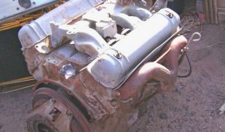 Lincoln 317 Engine Y Block with 4 Speed Transmission and Transfer Case