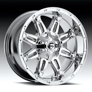 "20"" Fuel Hostage Chrome D530 Rims 37x13 50x20 Nitto Mud Grappler Tires Wheels"