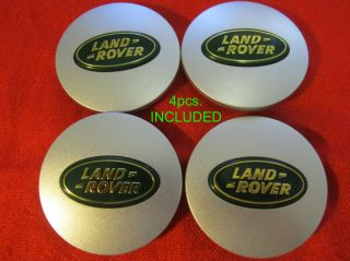 4 New Land Rover Wheel Center Caps Wheel Hub Center Set Cap Matte Green