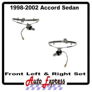 New Front Left Front Right Honda Accord Window Regulator Set with Motors Power
