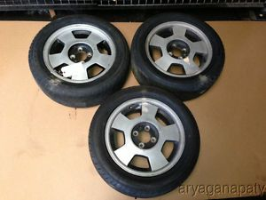 "90 91 Honda CRX Civic Del Sol Aftermarket Wheels Rims 5 Spoke Wheels 15"" 4x100"
