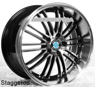"19"" H2 Staggered for BMW Wheels Rims 1 3 5 6 7 Series M3 M4 M5 M6 x3 x5 X6"