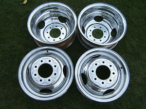 "Chevy GMC 2500 3500 Chrome Dually Wheels 16"" Rims DRW 8 Lug Duallie Accuride"