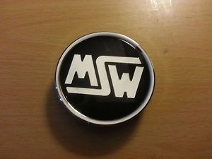 MSW Custom Wheels Alloy Aftermarket Black Chrome Wheel Center Cap Used PC332