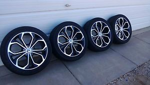 "2013 14 Ford Taurus Sho 20"" Performance Package Wheels Tires Stunning"