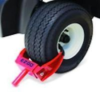 Golf Cart Part Universal Tire and Wheel Lock with Keys