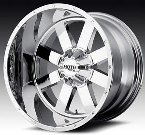 20 inch 20x12 Moto Metal Chrome Wheels Rims 5x5 5 5x139 7 RAM 1500 Bronco