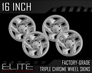"2001 2004 Toyota Tacoma 16"" Chrome Wheel Skin Covers"
