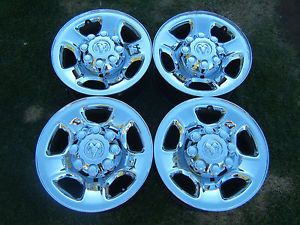 "Dodge RAM 2500 3500 17"" Chrome 8 Lug Wheels Rims Big Horn Mega Cab All Years"
